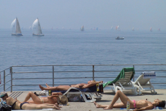 """Rijeka,15.06.2002, pogled na regatu """"Fiumanka"""" sa rijeckog Park hotela - foto Danilo Pavletic"""